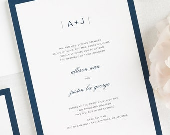 Sophisticated Modern Wedding Invitations - Deposit