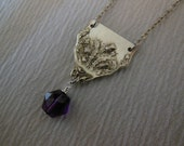 Thistle and Amethyst  Antique Necklace
