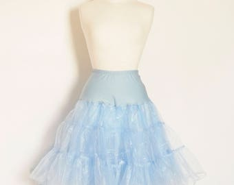 Pale Blue Tulle Petticoat - Full Fifties Style - Underskirt - Prom - Bridesmaid - Full Petticoat