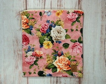 Gallon Size Reusable Bag - Shabby Chic Roses