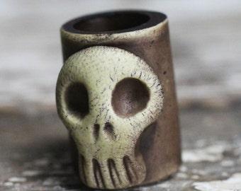 Skull dreadlock bead 10mm
