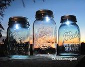 Mason Jar LED Light Lids Battery Powered Mason Jar Lids with On/Off Switch, Upcycled Lighting, No jars