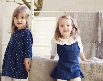 Girl skirt with suspenders Toddler girls midi skirt with straps a line skirt Girls summer clothes Line Skirt Holiday skirt Birthday skirt