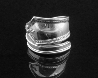 Art Deco Sterling Silver Spoon Ring