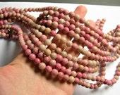 Rhodonite - 8.5mm round - full strand - 46 beads - RFG735
