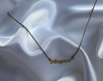 customized MEGAN brass gold short choker chain womens unique 90s vintage rare classic sharming charm vintage necklace