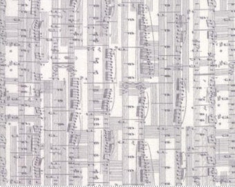 Compositions Musical notes in fog from the Compositions collection by Basic Grey for Moda -  30452 14