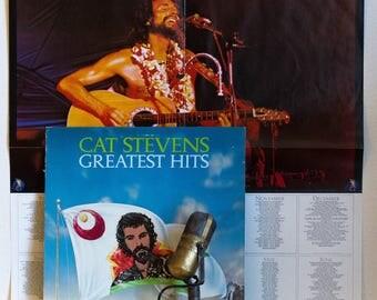 "ON SALE Cat Stevens Vinyl Record Album 1970s Folk Pop Rock Peace Love Soft Rock Spirituality LP ""Greatest Hits"" (Rare 1970s Record Club with"