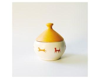 Mid Century Ceramic Pet Treat Jar