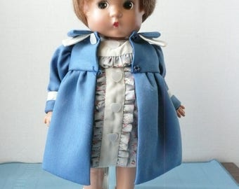 "Effanbee Patsy, '97 Repro ""Back to School"", 13"" Vinyl Doll, with Stand"