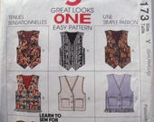 Women's and Men's Lined Vest Easy Sewing Pattern - Nine Great Looks McCall's 6286 - Sizes S-M-L, Bust/Chest 31 1/2 - 40, Uncut