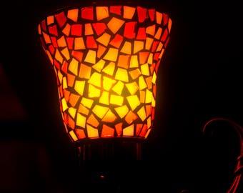 Horror Print -Orange Light, Red Light, Lantern, A3,Horror Scene,Dark Print,Digital Art,Horror Art,Dark Art