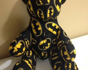 Batman Teddy Bear, Bear, Stuffed Animal, Stuffed Toy