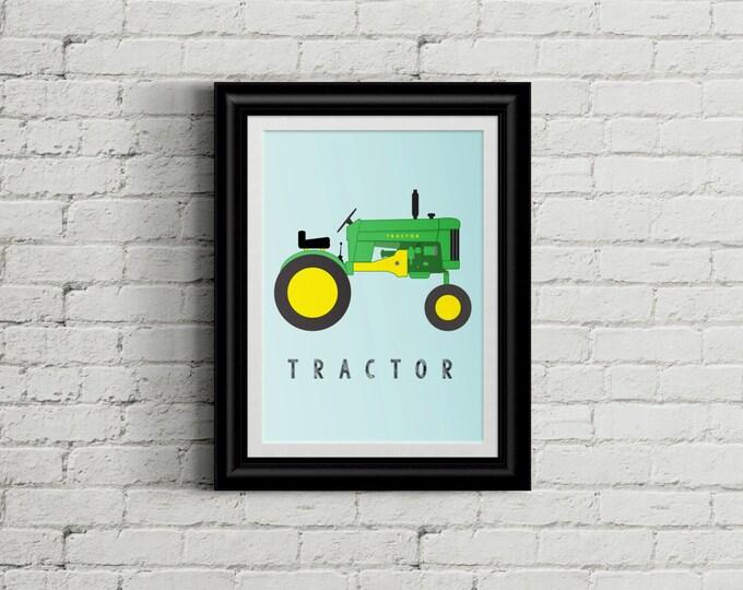 Tractor Kid's Bedroom Wall Art - Farm Boys Room Decor - Farming Room Decor - Tractor Country Nursery Decor