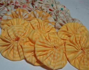 12 Yo Yos -  Yellow Mix for crafting
