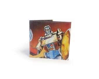 Transformers Wallet - Vintage Comic Book Page in Vinyl
