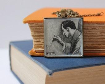 Sherlock Holmes pendant | Arthur Conan Doyle | book jewelry | detective necklace | Sherlocked