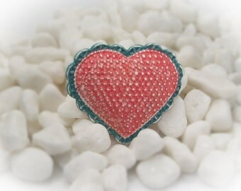 Cabochon Heart Cabochon Focal Bead Polymer Clay Focal Polymer Clay Jewelry DIY Jewelry Polymer Clay Cabochon - 16110
