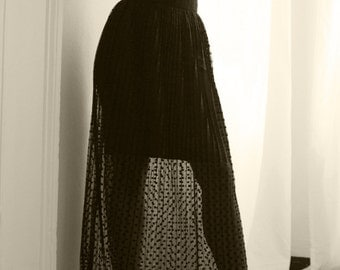 Pleated Dott Skirt