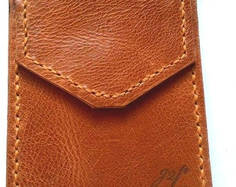 brown Leather, Pocket Protector, utility sleeve,gift