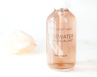 Rosewater | Travel Size | Facial Mist with Purple Carrot Extract | Rose Water Toner | 100% natural and vegan