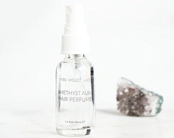 Amethyst Aura Hair Perfume | Jasmine + Rose | 100% natural, vegan and organic - TRAVEL SIZE