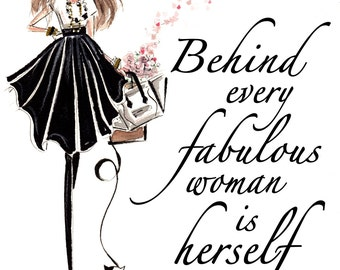 Fabulous - Fashion Illustration - Art Print