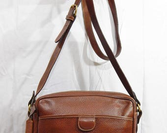 Authentic Vintage COACH Brown Pebbled leather Dakota Sheridan Made in Italy
