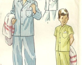 Vintage Boys Pajama Pattern Top and Pants Size 10 Simplicity 2541