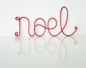 NOEL Red Holiday Wire Sign, NOEL Sign, Custom Christmas Decoration, Wall Art, Hanging Sign, Religious Wall decoration, Inspirational Sign