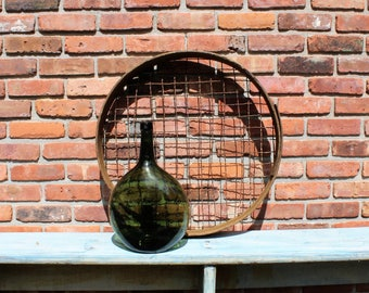 """Vintage 24"""" Wood and Wire Sifter - Riddle - Sieve - Farmhouse - Garden - Potato"""