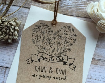 Rustic Save the Date, Laurel Save the Date, Country Save the Date, Shabby Chic Save the Date, Barn Save the Date, Rustic Wedding