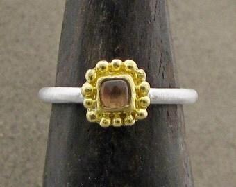 Pink Tourmaline Ring- 22 karat Gold & Tourmaline Ring - Engagement Ring - Gemstone Ring