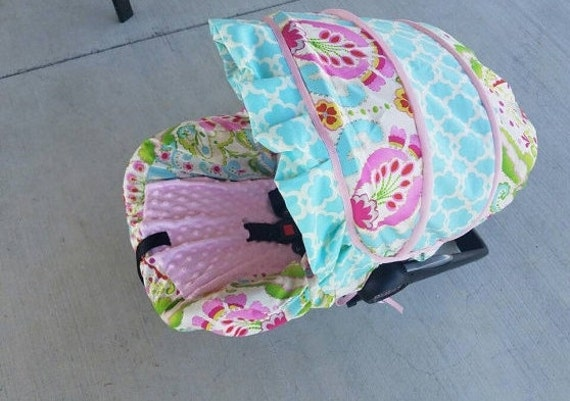 Baby Girl Infant Car Seats: Baby Girl Infant Car Seat Cover & Ruffle Baby Car Seat