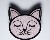 Rosa Katze patch