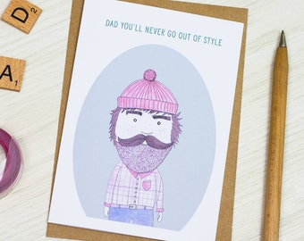 Illustrated Dad Card | Fathers day | Greeting Card | Birthday | Trendy | Cool | Hand Drawn | Illustrated | Gift | For Him