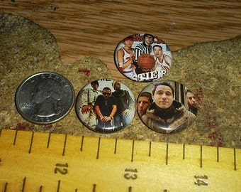 BEASTIE BOYS 3 one inch pin back buttons badge set