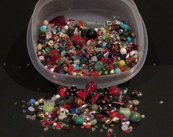 Destash - Large Variety of Beads - Glass - Metal - Lamp Work - Crystals - NO acrylic - Huge Variety of Colors - CMH