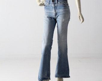 1970s Levis jeans, vintage Levis flare leg, 29 x 31