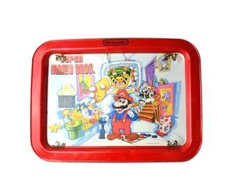Vintage 1989 Nintendo Super Mario Bros TV Tray NES