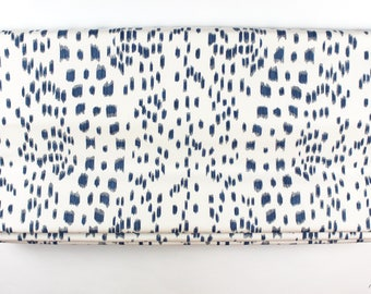 Brunschwig & Fils Les Touches Roman Shades (shown in Blue-comes in 9 Colors)