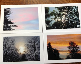 Photo Notecards, Blank Cards, 4 x 6 photo cards, Sky Photos, Pictures of the Sky