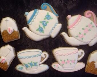 Tea Set - sugar cookies