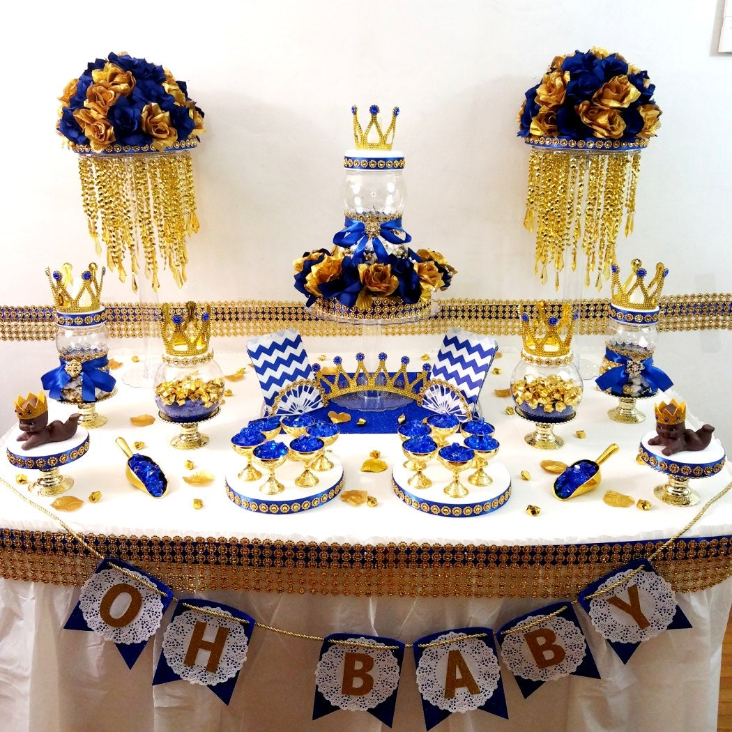 Candy For Baby Shower Ideas: Royal Prince Baby Shower Candy Buffet Centerpiece / Oh Baby