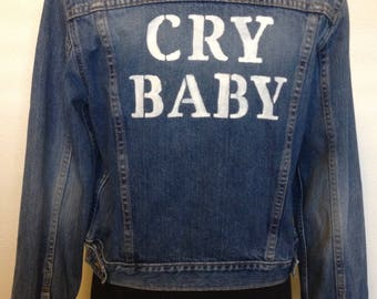 Levi's Jean Jacket with studs. Cry Baby. Size Large