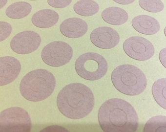 Reinforcement Stickers, Holes, Blank Design, Planner Stickers, Kraft Brown Circle Adhesive paper Pack 216pc