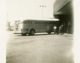 "Vintage Photo ""The Last Stop"" Snapshot Antique Photo Old Black & White Photograph Found Paper Ephemera Vernacular - 154"
