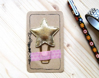 Gold Star Planner Clip, Gold Star Paperclip, Planner Accessories, Stationery, Kikki Filofax Erin Condren, Bookmarks, Planner Goodies, Star