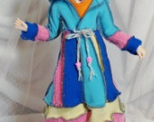 Wizard Sweater Coat Pastel Skies for BJD MSD doll