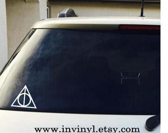 Car Window Decal Deathly Hallows - CAR DECAL - Harry Potter, Always, Hogwarts, potterhead,   Vinyl Decal Only